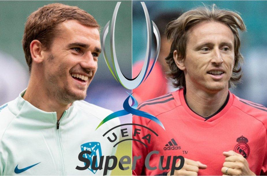 Antoine'as Griezmannas ir Luka Modričius