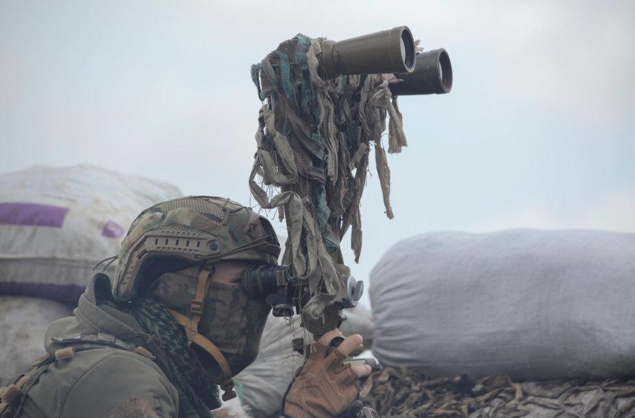 Ukrainos karus prie kontaktinės linijos Donbase