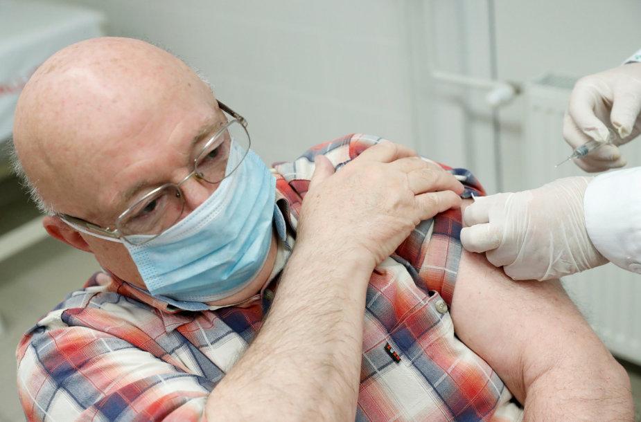 """Vengras skiepijamas kiniška vakcina """"Sinopharm"""""""