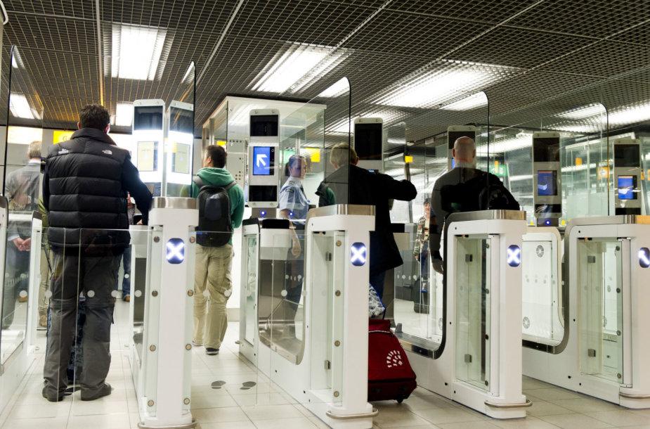 Automatiniai pasienio patikros varteliai Nyderlanduose
