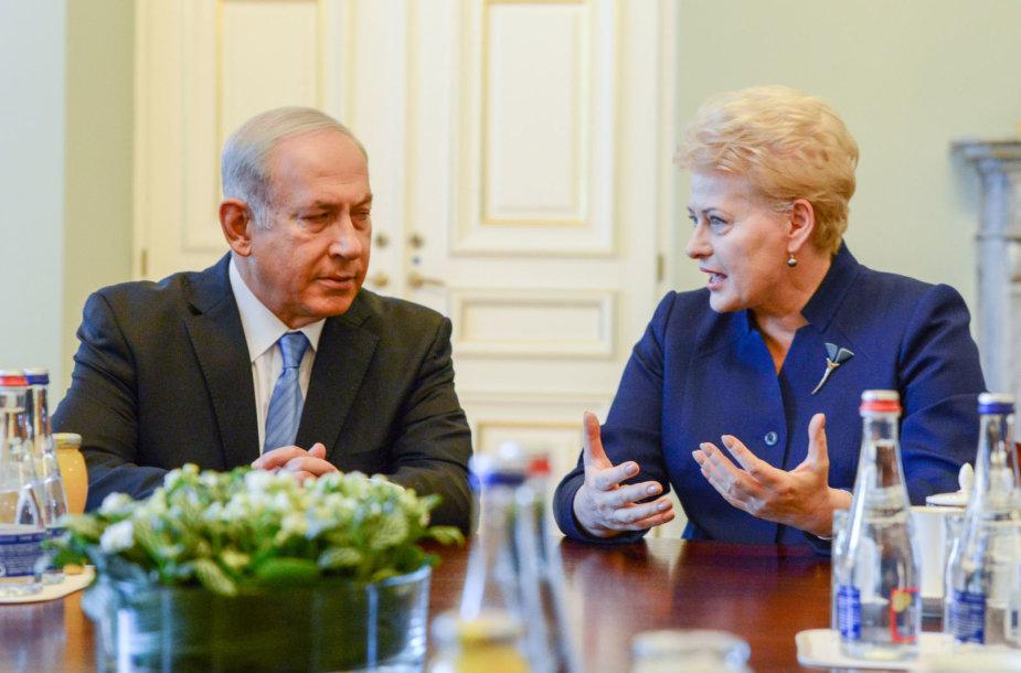 Prezidentė Dalia Grybauskaitė susitinka su Izraelio Ministru Pirmininku Benjaminu Netanyahu