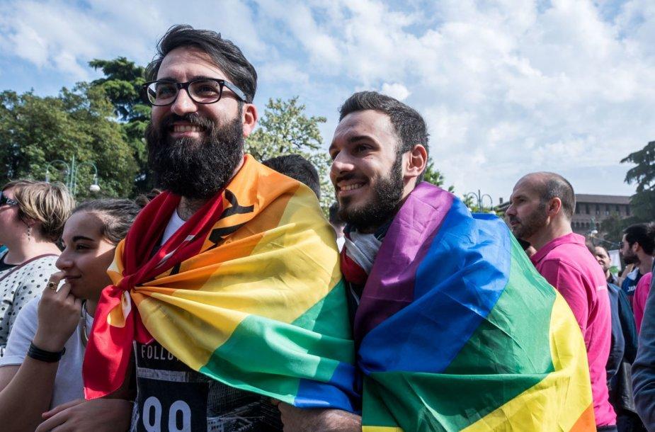 LGBT parado Italijoje akimirkos