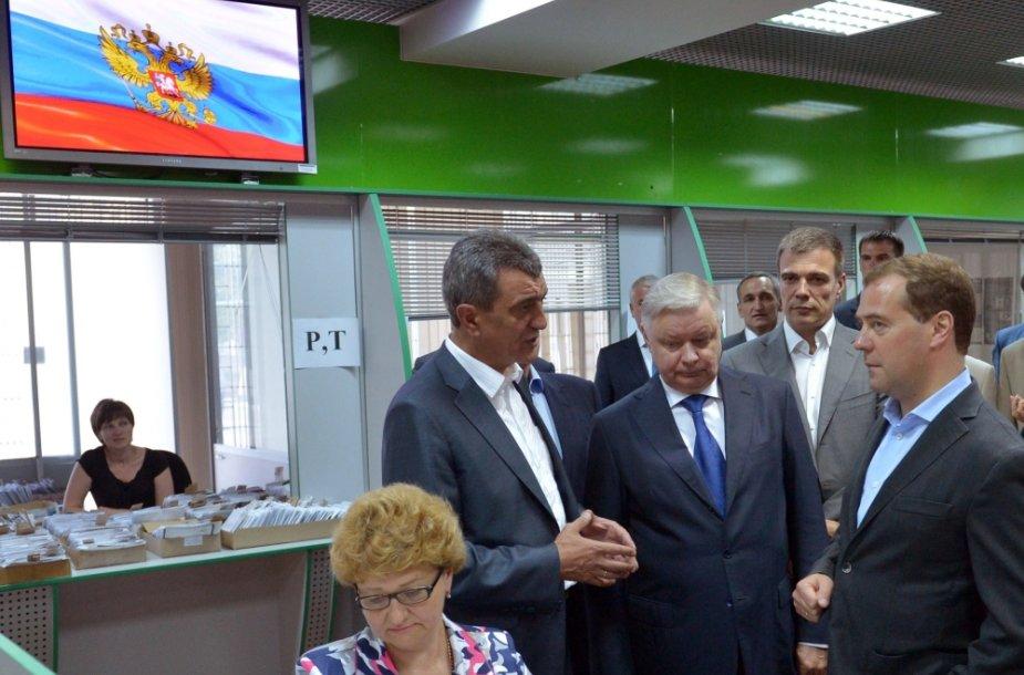 Rusijos premjeras Dmitrijus Medvedevas Sevastopolyje (Krymas)