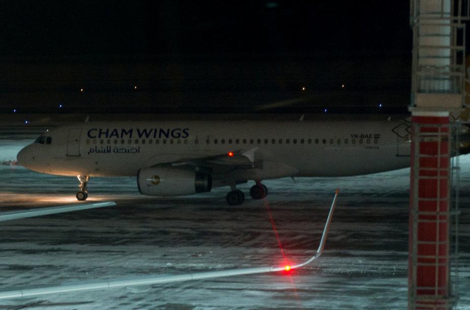 """""""Cham Wings"""" lėktuvas Rostovo oro uoste šių metų sausį"""