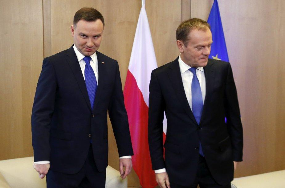 Andrzejus Duda ir Donaldas Tuskas