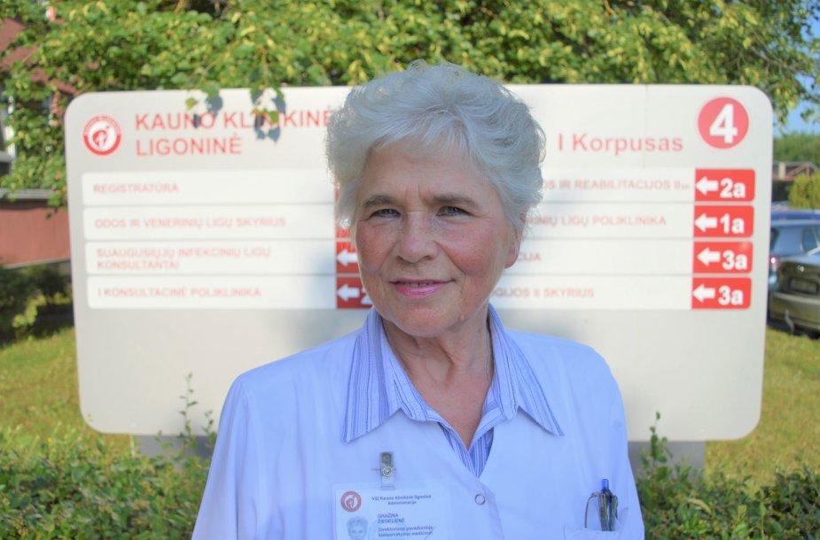 Gydytoja Gražina Žiedelienė