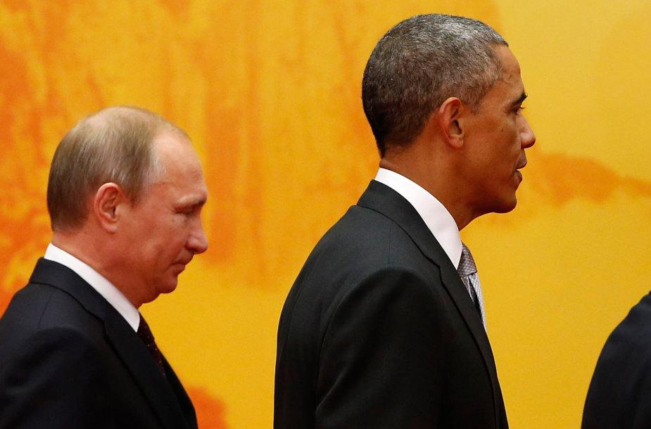 Vladimiras Putinas ir Barckas Obama