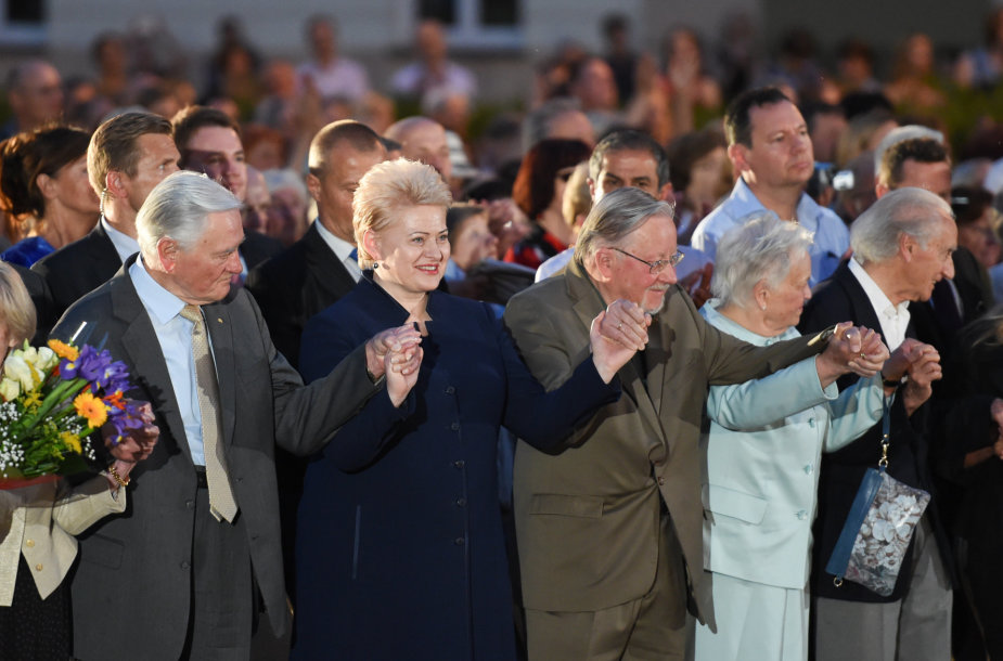 Valdas Adamkus, Dalia Grybauskaitė ir Vytautas Landsbergis
