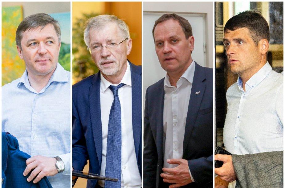 Ramūnas Karbauskis, Gediminas Kirkilas, Valdemaras Tomaševskis ir Remigijus Žemaitaitis