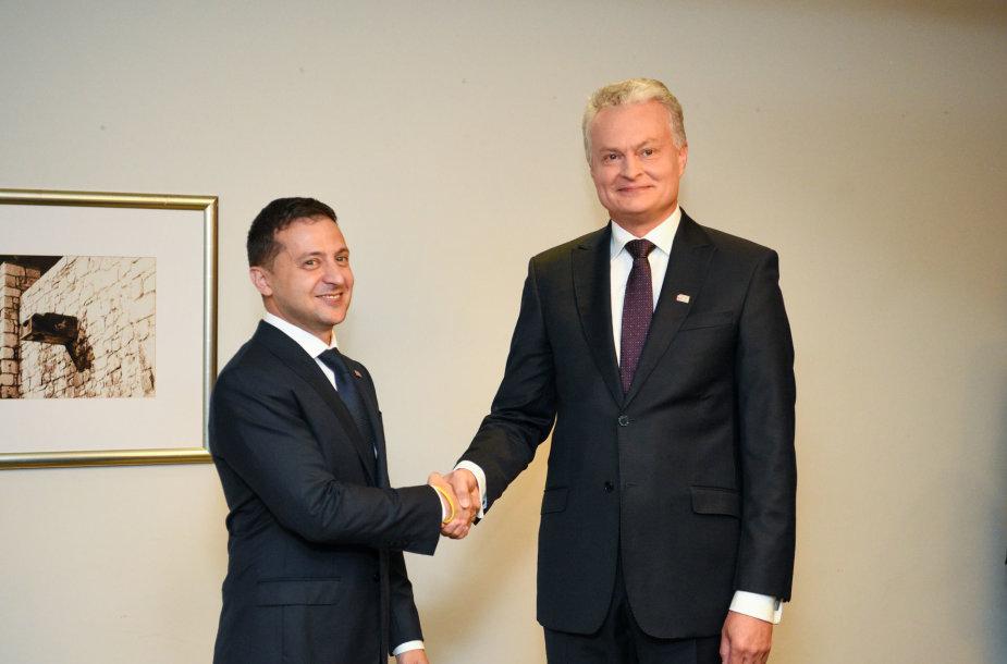 Volodymyras Zelenskis ir Gitanas Nausėda