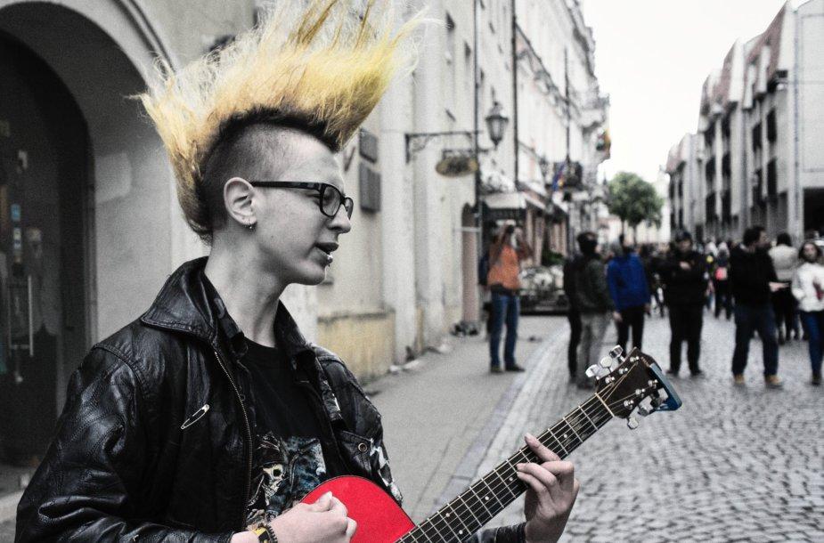 Gatvės muzikos dienos dalyvis
