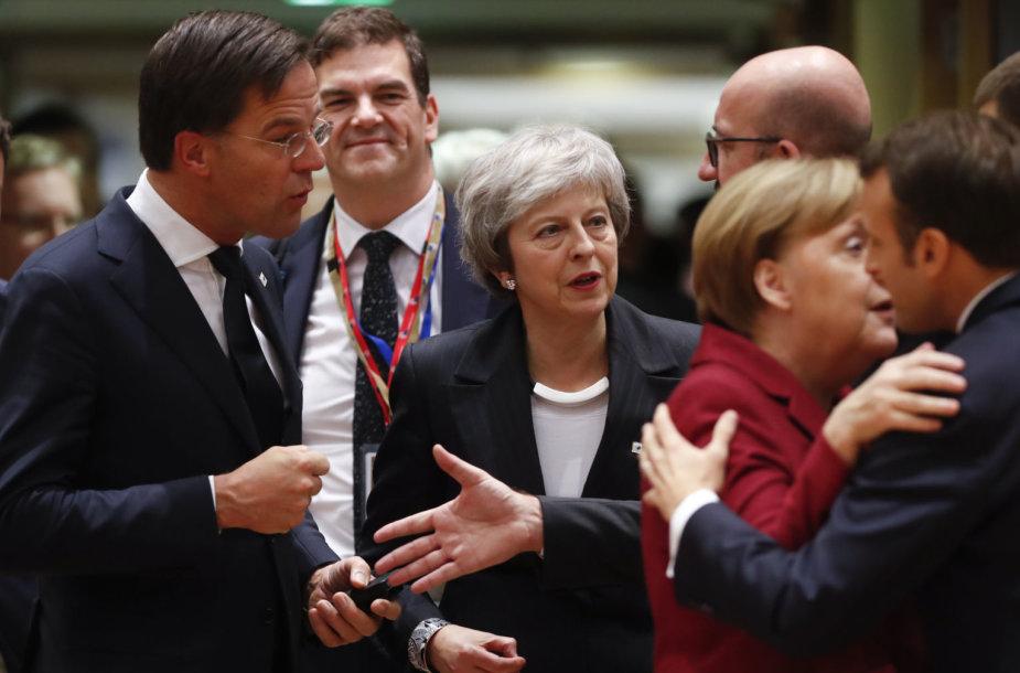 Theresa May ir ES šalių lyderiai