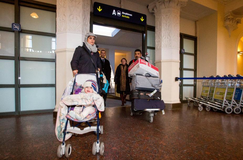 Irakiečių šeima atvyko į Lietuvą