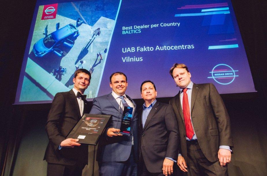 """""""Fakto"""" autocentras jau penktą kartą pripažintas geriausia """"Nissan"""" atstovybe Baltijos šalyse"""