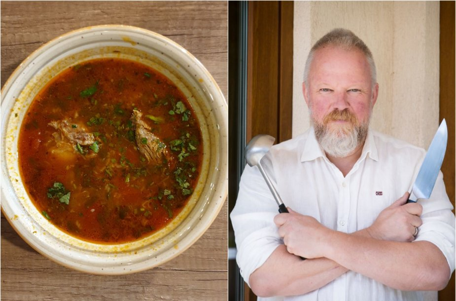 Vytaras Radzevičius ir jo virta charčio sriuba