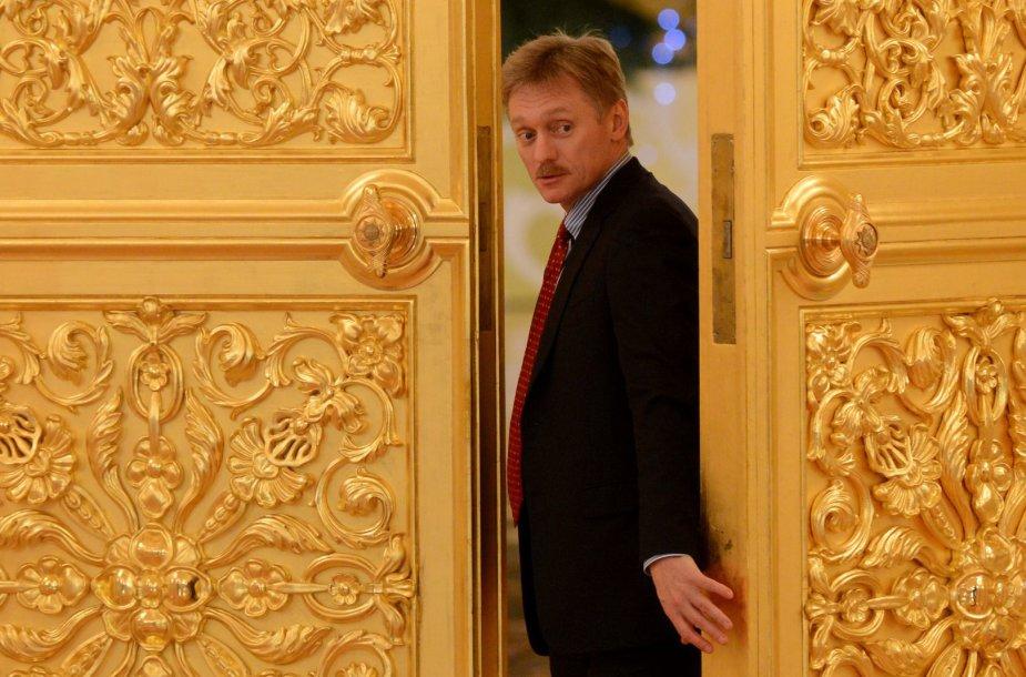 Vladimiro Putino atstovas spaudai Dmitrijus Peskovas