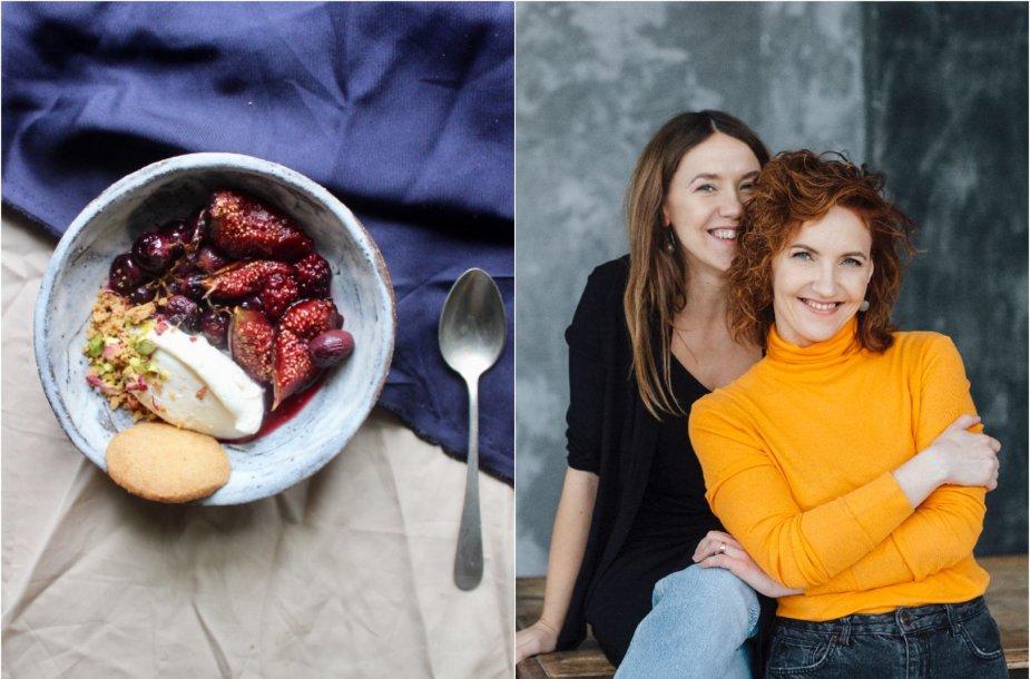 Tinklaraštininkės Rūta ir Asta bei jų gamintas desertas