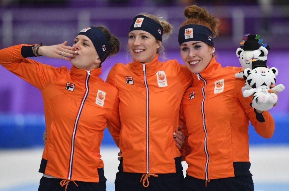 Nyderlandų čiuožėjų triumfas