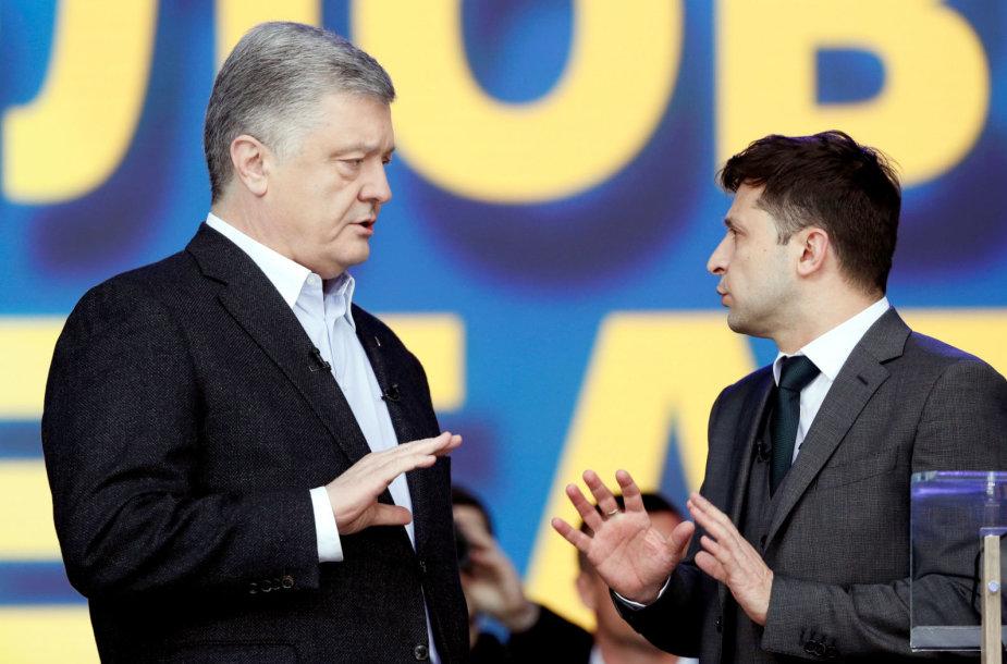 Petro Porošenka ir Volodymyras Zelenskis