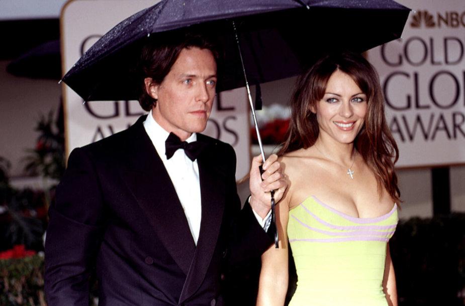 Hugh Grantas ir Elizabeth Hurley 2000-aisiais