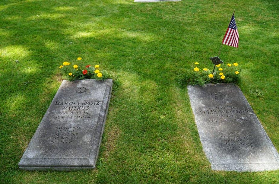 Felikso Vaitkaus, pirmojo lietuvio, sėkmingai perskridusio Atlantą (ir išlikusio gyvo), kapas