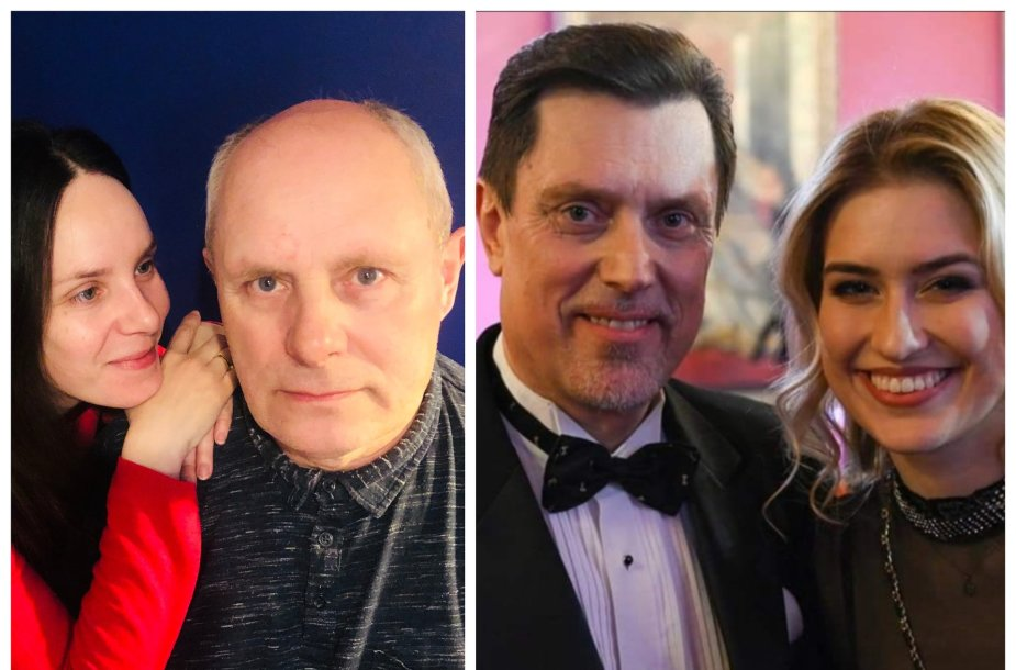 Valda Bičkutė su tėčiu, Ieva Barbora Juozapaitytė ir Vytautas Juozapaitis