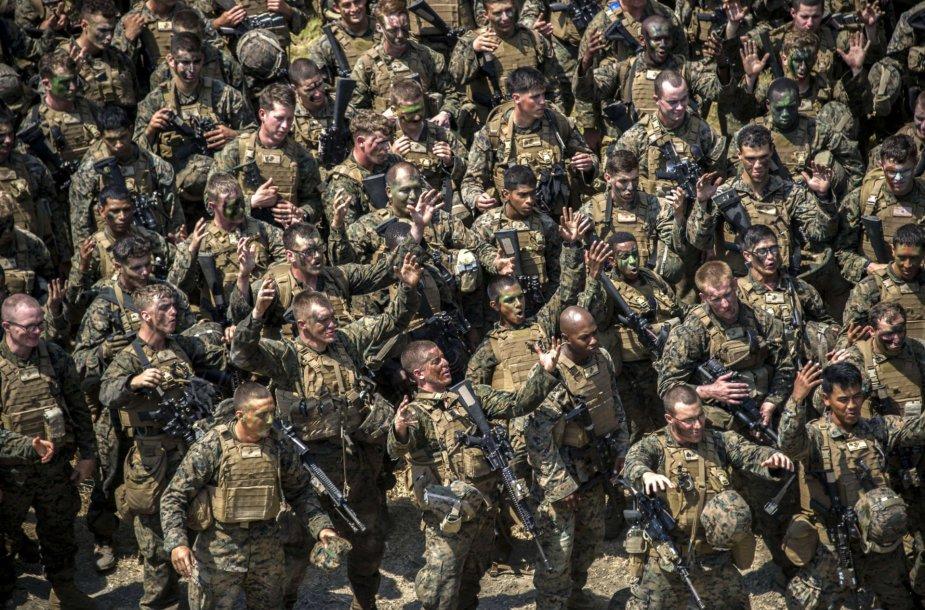 JAV kariai per pratybas Indonezijoje