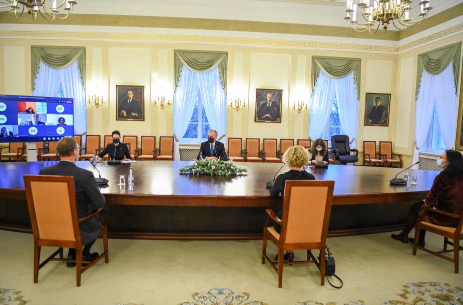 G.Nausėda susitiko su Teisėjų Taryba