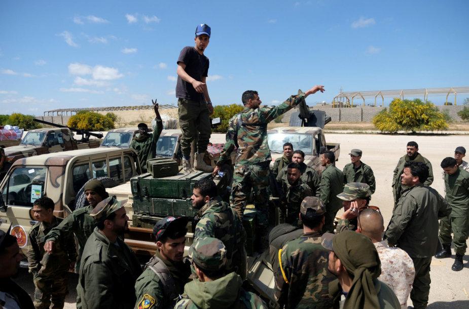 Khalifos Haftaro vadovaujami kariai