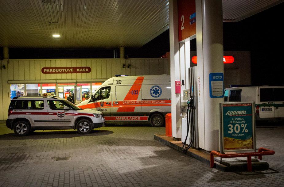 Vilniaus degalinėje mirė žmogus