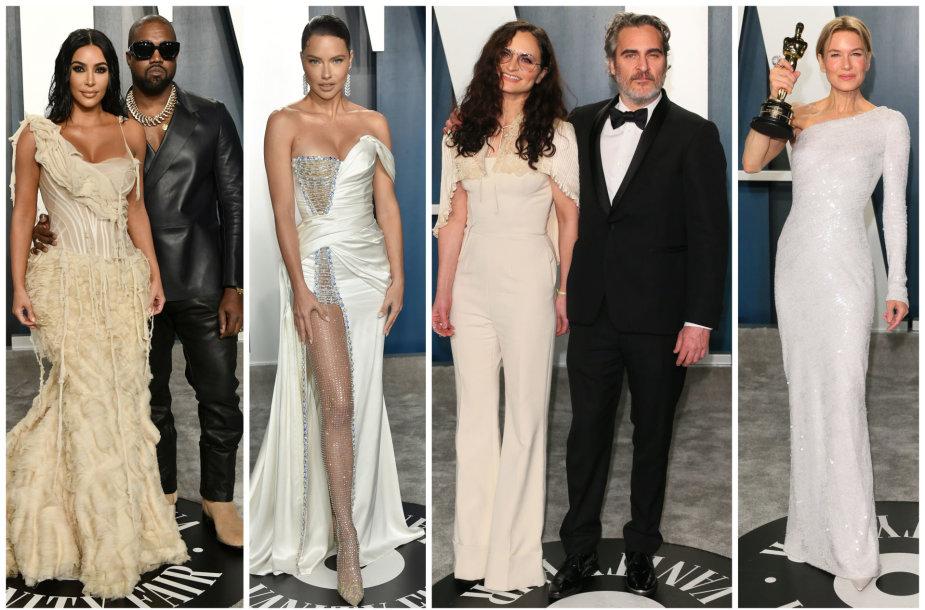 Kanye Westas, Kim Kardashian, Adriana Lima, Joaquinas Phoenixas su seserimi, Renee Zellweger,