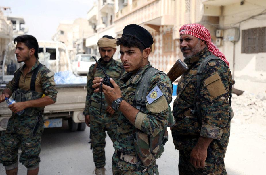 SDF kovotojai Sirijoje