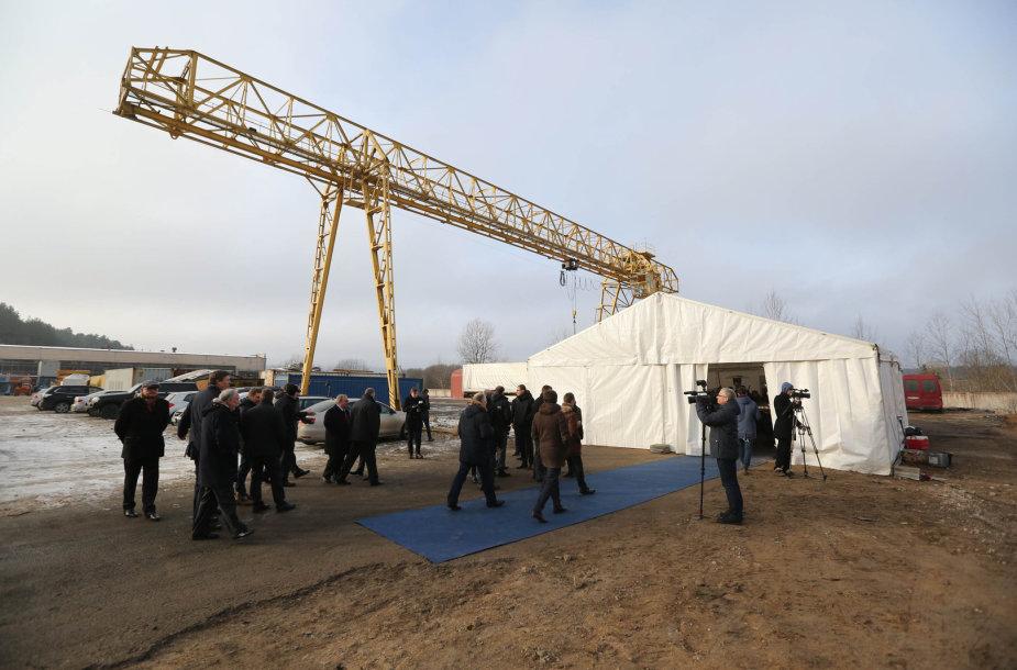 Naujos biokuro katilinės statybų pradžia
