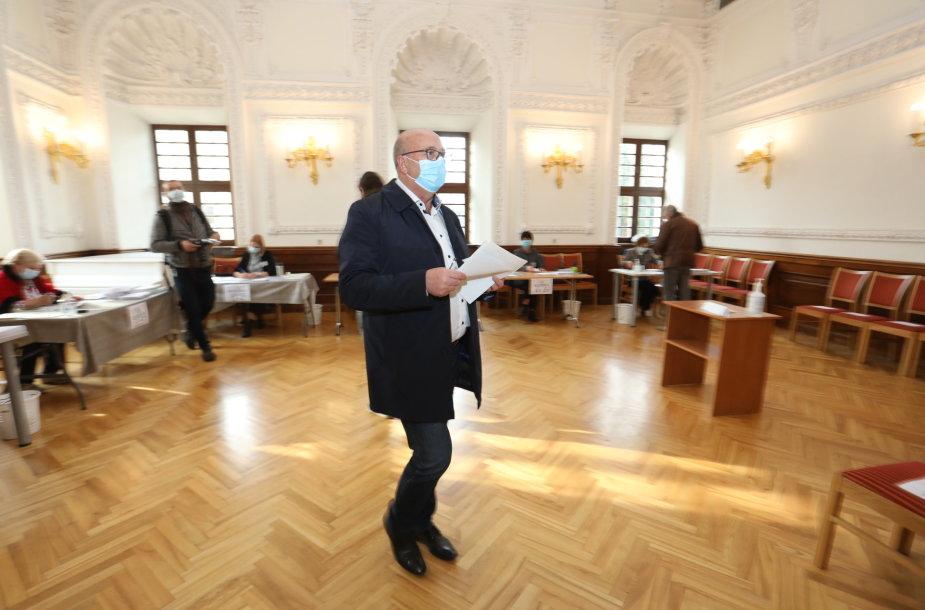 Visvaldas Matijošaitis balsavo LR Seimo rinkimuose