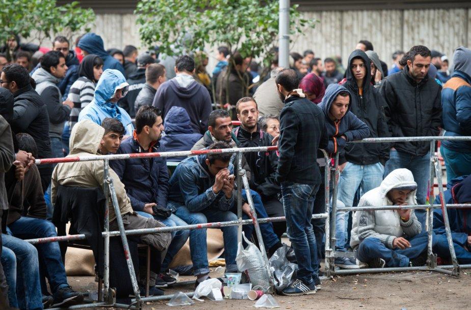 Pabėgėliai Vokietijoje laukia sveikatos patikrinimo procedūros