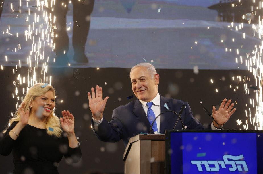 Benjaminas Netanyahu triumfuoja