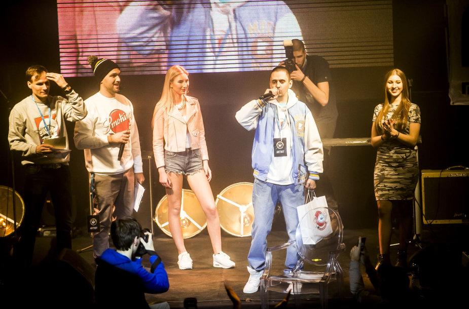 Lietuvos hiphopo muzikos apdovanojimų akimirka