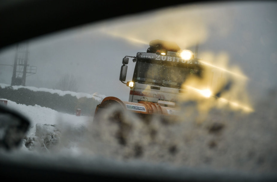 Sniego valymo mašina Ispanijoje