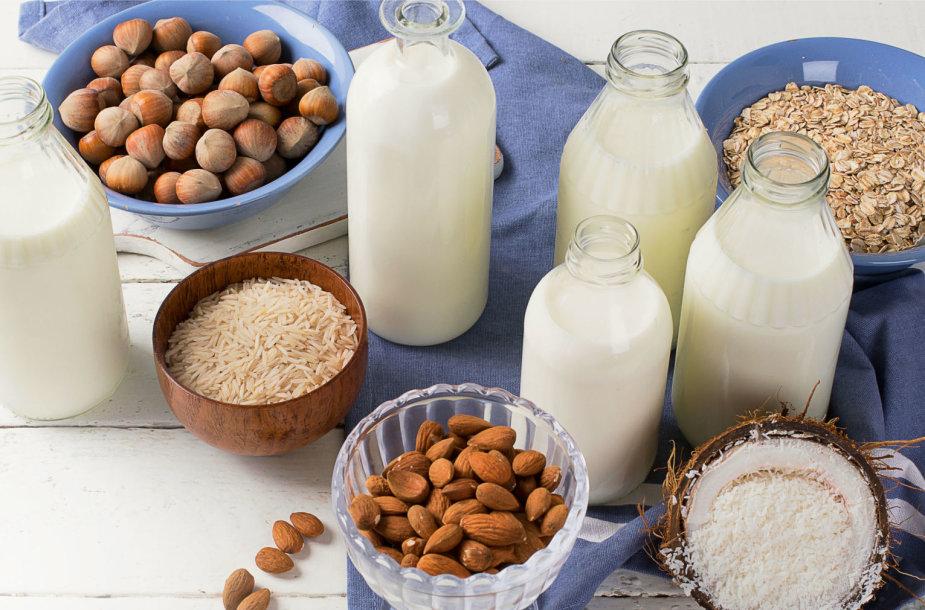 Įvairių rūšių augalinis pienas