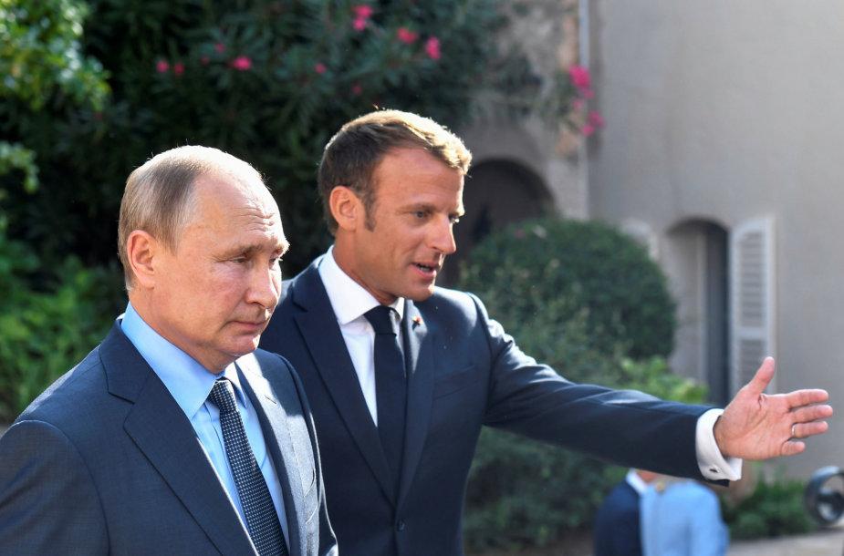 Vladimiras Putinas,Emmanuelis Macronas