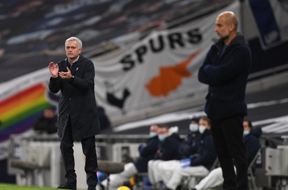 Jose Mourinho ir Pepas Guardiola