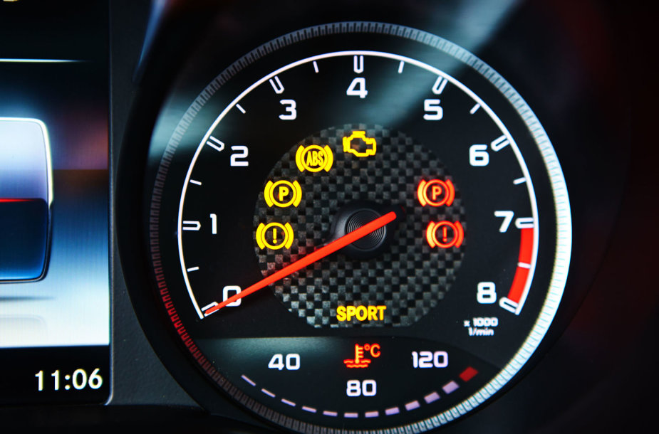 Automobilio prietaisų skydelio simboliai