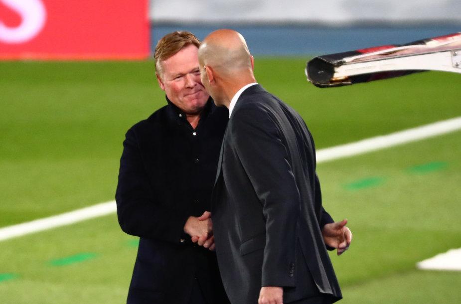Ronaldas Koemanas ir Zinedine'as Zidane'as