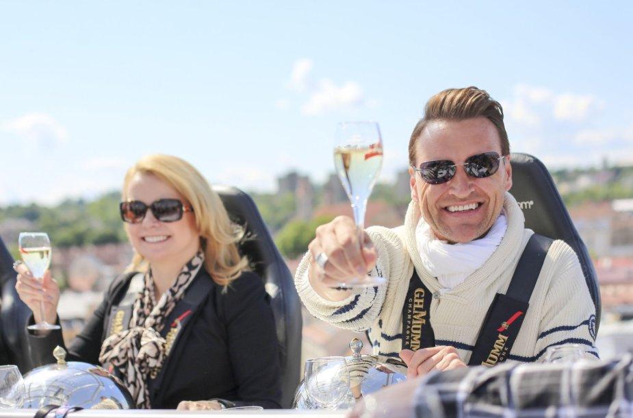 Žilvinas Grigaitis su žmona Elle Martin Grigaitis