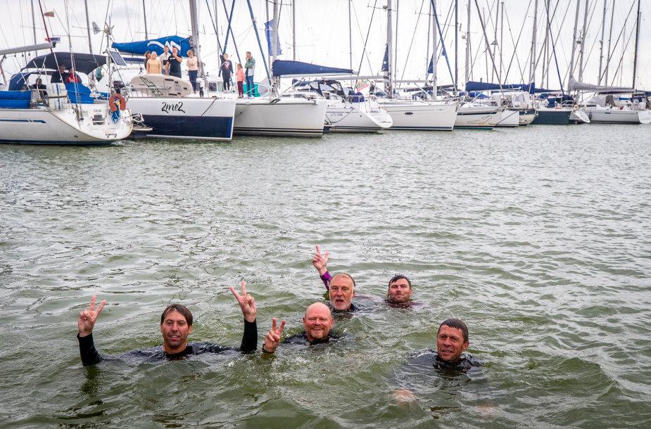 """Baltijos šalių """"Platu 25"""" jachtų klasės čempionato akimirka."""