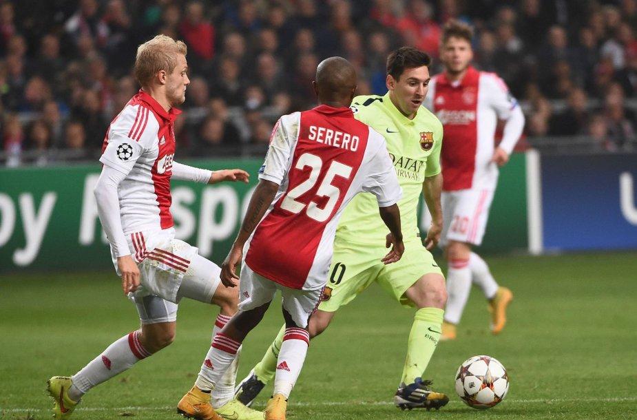 "Lionelis Messi įmušė du įvarčius ""Ajax"" ekipai"