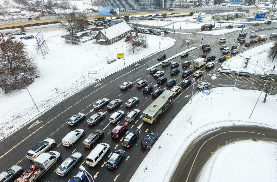 Transporto spūstys Vilniuje