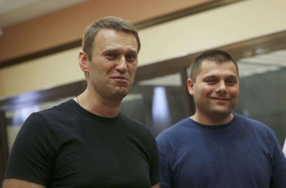 Aleksejus Navalnas ir Piotras Oficerovas
