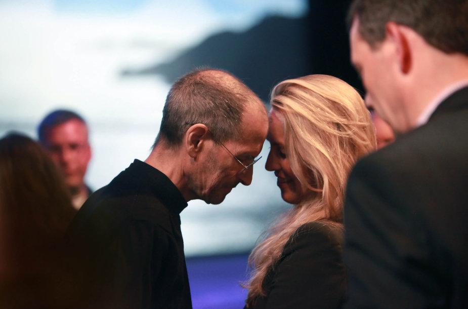 Steve'as Jobsas ir Laurene Powell (2011 m.)