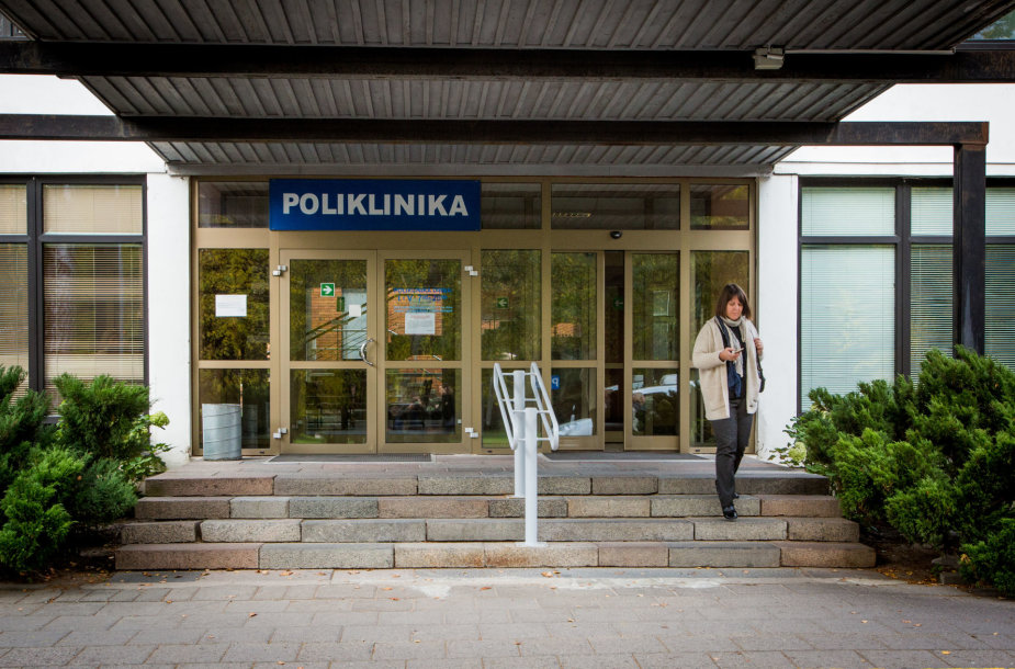 Vilniaus miesto klinikinės ligoninės Antakalnio filialo laiptai